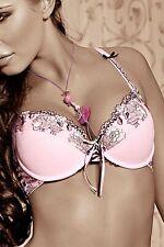 BH Natali Push Up mit Stickerei Spitze in rosa pink Blumenmuster