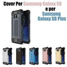 custodia cover case Per Samsung Galaxy S8 e Per Samsung Galaxy S8 Plus TPU + PC