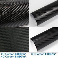 8,88€/m² PREMIUM 2D + 3D + 4D Carbone Film Voiture Matt Brillant Conduit à air