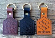 Leather Suzuki Motorcycle Keyring