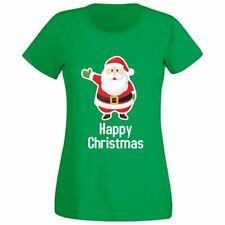 Happy Christmass Womens Girls Lot Funny Running Fitness Christmass Tee T Shirt