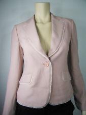 CLAMONT PARIS Fringed Trim Pale Pink Blazers Jacket Top Size 32, 36