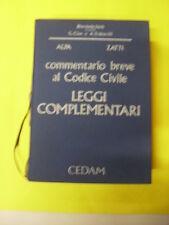 ALPA/ZATTI - COMMENTARIO BREVE AL CODICE CIVILE LEGGI COMPLEMENTARI - ED.CEDAM