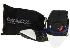 NEW FOOTZYFOLDS Kourtney foldable shoe Black/White Patent size 7,8,9  ret $79