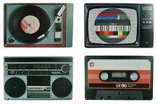 Platzsets Retro Nostalgie HiFi Geräte Kunststoff abwaschbar Tischset 29x44 cm