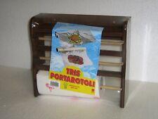 Portarotoli scottex pellicola alluminio barattoli in legno  cucina sottopensile