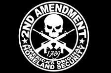 2ND AMENDMENT GUN Vinyl Decal Sticker Truck Window Sig AR YETI 4x4 Mud M&P Mud