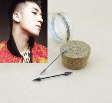 Korean Big Bang Victor Long Arrow Ear Bone Bar Stud Earring Fine Stainless Steel