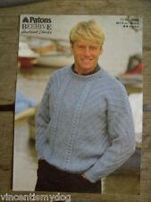 PATONS Shetland a trama grossa * SWEATER knitting pattern 3568