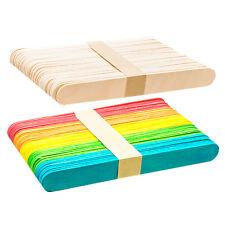Jumbo · Plain · Coloured · Wooden · Lolly Pop Lollipop Craft Sticks · UK Company