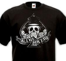 T-shirt GAME OVER - Tête de mort AS pique Tattoo Rock'n'Roll Rockabilly Punk Ska