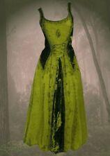 Gótico Medieval Vestido Terciopelo bordado Cordón Guinerva 36 38 40 42