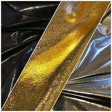 "Metallic Shiny Stretchy foil Polyester Nylon Spandex Mix 58"" Wide M100 Mtex"