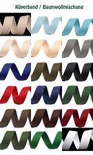 5m Köperband Breite 30 mm Einfassband Gurtband Farbe wählen