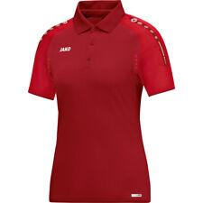 Jako Polo Champ Damen dunkelrot/rot Poloshirt Shirt T-Shirt  Sport Fitness