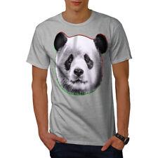 Wellcoda Panda Cara naturaleza Para hombres Camiseta Camiseta Impresa, Diseño Gráfico De Madera