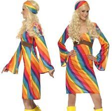 donna anni '60 ANNI 60 ARCOBALENO Hippy Costume hippie donna vestito da Smiffys