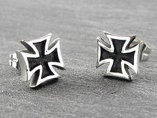 Edelstahl Ohrstecker Eisernes Kreuz  2 Stück  Ohrschmuck Unisex