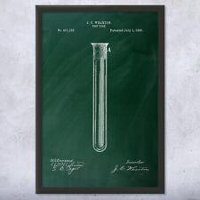 Framed Test Tube Art Print Gift Chemistry Art Science Wall Art Student Chemist
