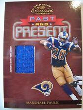 2002 DONRUSS CLASSICS PAST AND PRESENT MARSHALL FAULK, RAMS !! BOX 8