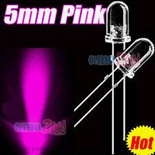 100 PCS x Pink 5mm Round LED Superbright Pink Light 8000MCD 25 Angle