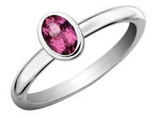 Pink Tourmaline Ring 2/5 Carat (ctw) Sterling Silver