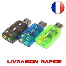 USB Carte Son Audio 5.1 Adaptateur Externe microphone Haut-Parleur PC Portable