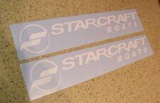 Starcraft Fishing Boat Decal Die-Cut WHITE 2-PAK FREE SHIP + FREE Fish Decal!