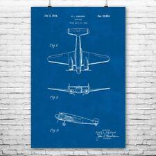Lockheed Electra 10E Airplane Poster Print Flight Instructor Pilot Gift