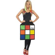 80's Female Retro Rubiks 3D Cube 1980's Womens Ladies Fancy Dress Costume