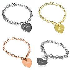 Damen Armband / Herz Armband mit Gravur aus Edelstahl verschiedene Modelle