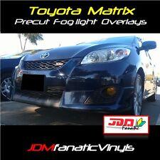 09-14 Toyota Matrix Fog light JDM Yellow Overlays TINT wrap Kit TRD HID SMOKED