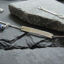 Babyarmband, Kinderarmband, 925 Silber ID Armband mit Glücksauge & Gravur, GA-20