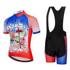 Men's France Cyclisme Team Kit Cycling Jersey Maillot and (Bib) Shorts Set
