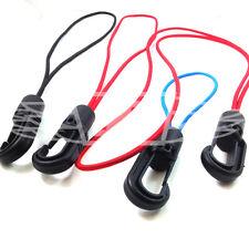 4mm BUNGEE CORDA ELASTICA Shock Cord ganci e anelli-Rosso Blu Nero & Blu VELA