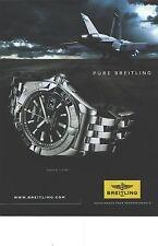 PUBLICITE advertising  2010  BREITLING montre Galactic 41