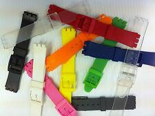 PLASTICA cinturini per abbinarsi SWATCH Gents in plastica di dimensioni standard Orologio