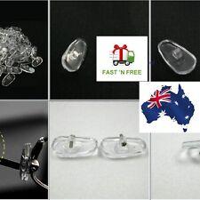 Silicone Eyeglass Sunglass Glasses Nose Pads Soft Oval O Screw-On Frame Repair