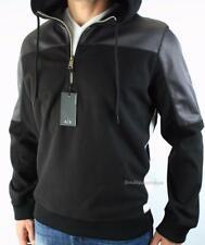 Armani Exchange A|X Mens Half Zip Fleece Racer Track Hoodie Colorblock Mesh NWT