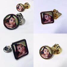 Mini Photo Pin Badge, Brooch, Customise With Any Photo, Logo Nice Keepsake Gift