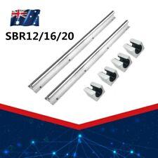 SBR12/16/20 Supported Linear Rail Shaft Rod 2PCS + 4PCS Block Bearing 300-1000mm