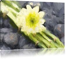 Blüte auf Bambus Leinwandbild Wanddeko Kunstdruck