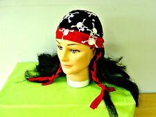 Pirate Skull Motif Scarf Bandana Wig Fancy Dress