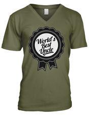 World's Best Uncle Ribbon #1 Greatest In The Award Family Men's V-Neck T-Shirt