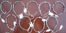 Gemstone and Dragonfly Silver Plated Bracelet - Gemstone M - P