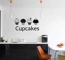 Cupcake Cucina Sala da Pranzo Negozio Segno Logo torte Wall Art decalcomania Sticker foto