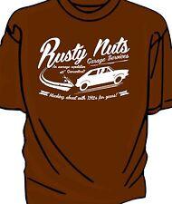 """Rusty Nuts Garage Services"" t-shirt. Ford Fiesta XR2"