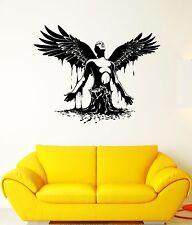 Wall Decal Man Angel Wings Revival Art Water Takeoff Vinyl Stickers (ed139)