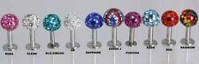 Ferido Crystal Labret  Stud  / Tragus Bar    Shambala Swarovski Crystal