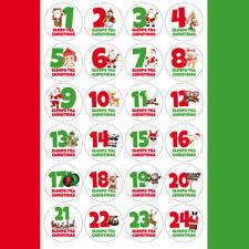 24 x SLEEPS TILL CHRISTMAS Advent Calendar Alternative Stickers Label Tags 1032